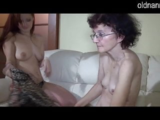 Sexy girl fingering - Old lady enjoying young sexy girl fingering