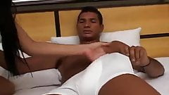 Brazilian Brunette Has Anal and Foot Fetish