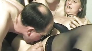 French chubby wife gangbanged by strangers