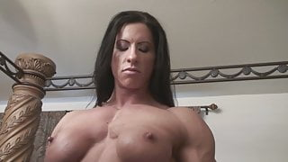 Female muscle - shirt rip and worship