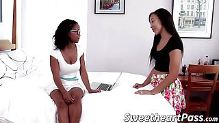 Nerdy Ivy convinces Adrian to stay in school by fucking her