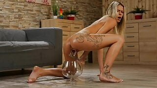 Claudia Macc Rides Dildo After Pissing