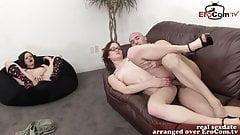 female cuckold girlfriend catches boyfriend with other girl