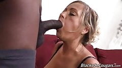 Classy mature mother gets creampie from young black stud