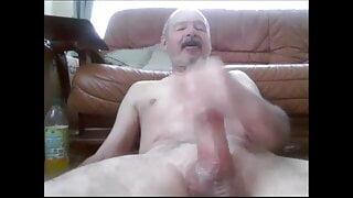 Daddy enjoying a nice wank with cum