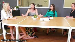 Kristen Scott's Feet Massage To Her Boss Takes A Wet Turn