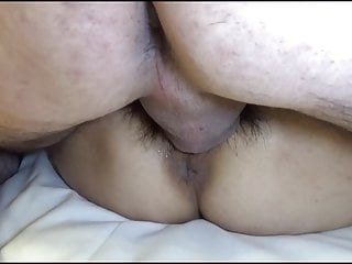 Fisting cervix - My all sperm pumped deep to her cervix.