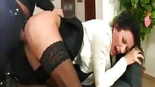 French Mature Christina Is Assfucked and Peed In Her Face