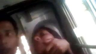 Desi girl romance in Bus