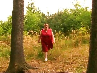 Big fat mature tube - Bbw fat mature granny with big boobs fucked in the forest