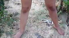 Outdoor nude peeing 1