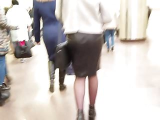 Milfs in leather skirts Small ass in leather skirt