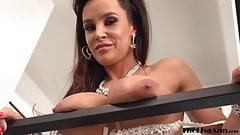 Bombshell Lisa Ann anal fucked and facialized by two cocks