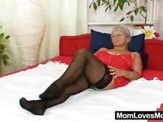 Ugly maid sex Ugly grandma cecilie toys her hairy pussy
