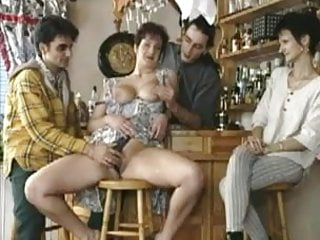 Horny cunts tubes Horny milf lets the guys in the bar take turns on her cunt
