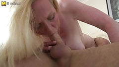 Hot British mother and her young lover