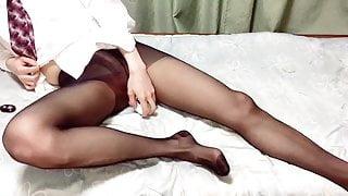 Pantyhose in dick