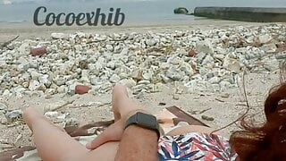 cheating wife gets pussy and ass touched by stranger at beach