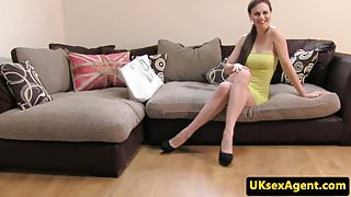 British amateur anal fucked at casting agency