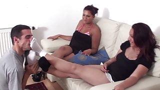 balkan brat girls sock sniffing