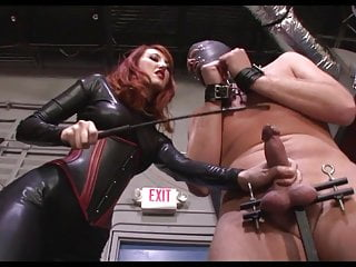 Femdom boot kissing Brutal cbt and cum on boots