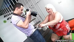 Photosession with big belly fatty leads to hard sex