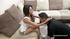 Asian Girls Simon Says Ballbusting