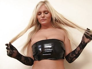 Sexy outfits for your man Busty blondie loves it when she takes her latex outfit off just for your pleasure