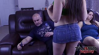 Big Tits Melanie Hicks in Daughter Fucks Dad while Step Mom Out