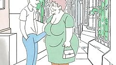 Fucking fantasies about grandma! Porn cartoon