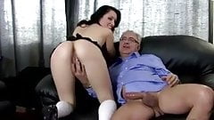 Old man fucks young sweet pussy