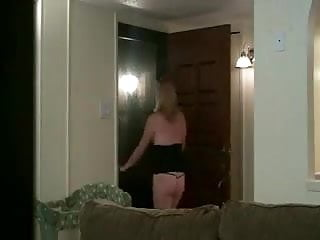 Guy fucks in womens underwear Wife fucks the young pizza guy