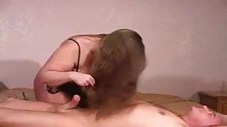 RedHead Slave Hairjob