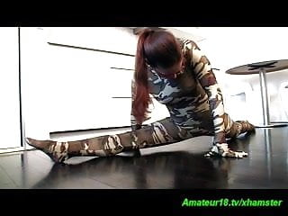 Contortion fetish pictures - Flexi spandex contortion