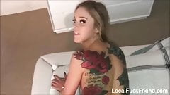 small white girl knows how to take bbc DEEP