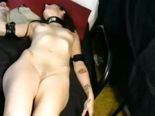 Guy fingered ass Guy fingers his collared girl in her ass