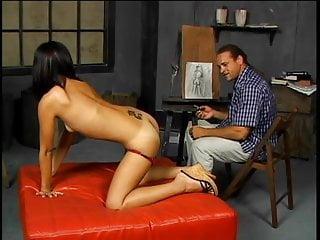 Asian deep throats Petite asian deep throats a huge cock then gets pussy creampie
