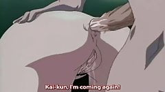 Sexed up hentai mommy uses toys on herself and then fucks