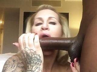 Gay lick balls Busty tattoed american milf suck big black dick lick balls