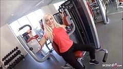 Skinny German Fitness Girl Pickup and Fuck Stranger in Gym