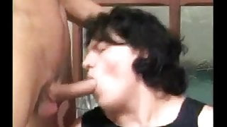 Hot big tit bbw gets fucked by 2 guys