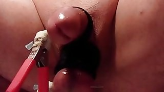 Needles and electro in penis and balls