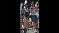 Upskirt in mall