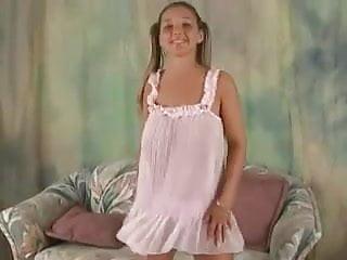 Tiny teen nightie Christina model sexy nighty dance