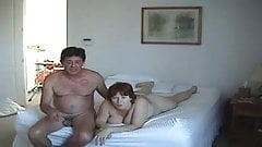 2 swinger couples having fun at home