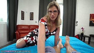 Slutty Mom Cory Chase Gives Stepson a Helping Hand & Pussy