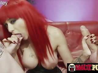 Fucked by 3 cocks at once Smut puppet - sucking two hard cocks at once compilation 3