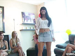 Sexy ladies seducing video - Sexy ladies suck some stripper dick