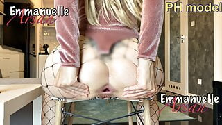 Anal gape! I play with her anal, Emmanuelle wants more