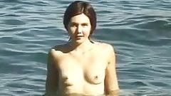 Nude Beach - Cute Brunette Showoff